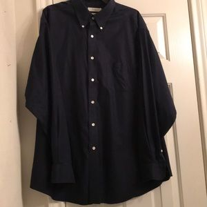 Turnbury long sleeve navy dress shirt. XL  $20